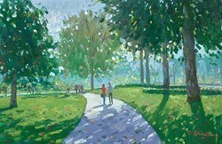 Green Park, Summer Light by Charles Rowbotham -  sized 16x10 inches. Available from Whitewall Galleries